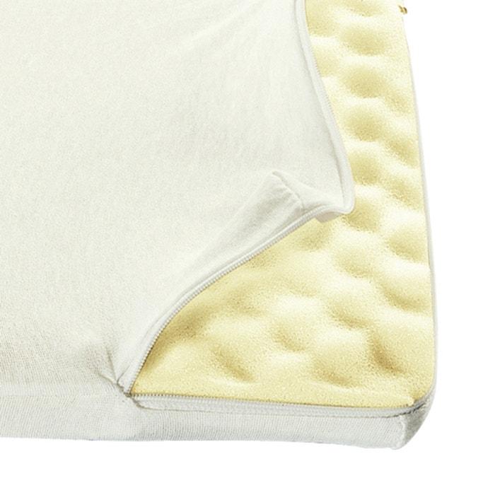 Foam Mattress Topper.Jersey Cover For Memory Foam Mattress Topper Ivory White La