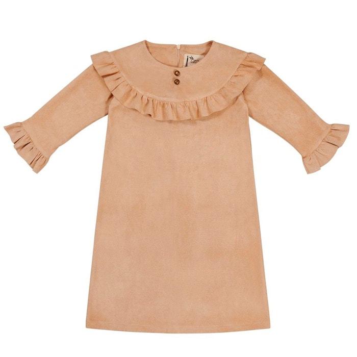 Robe Indienne Stretch A Volants Imitation Daim De 2 A 12 Ans Princesse Squaw Beige Clair La Faute A Voltaire La Redoute