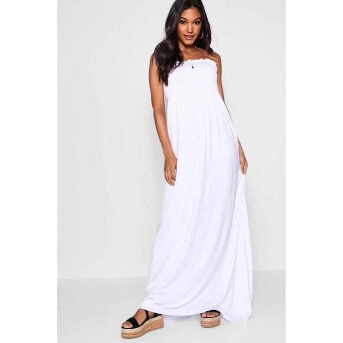 Robe longue boohoo blanche