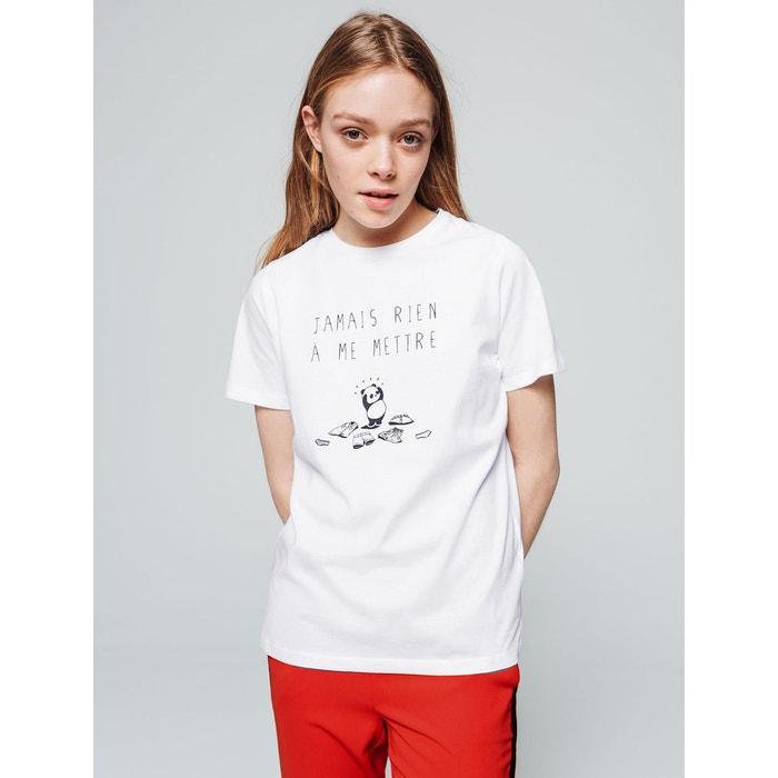 acheter en ligne 3a8d9 a203e T-shirt panda message 'Jamais rien à me mettre'
