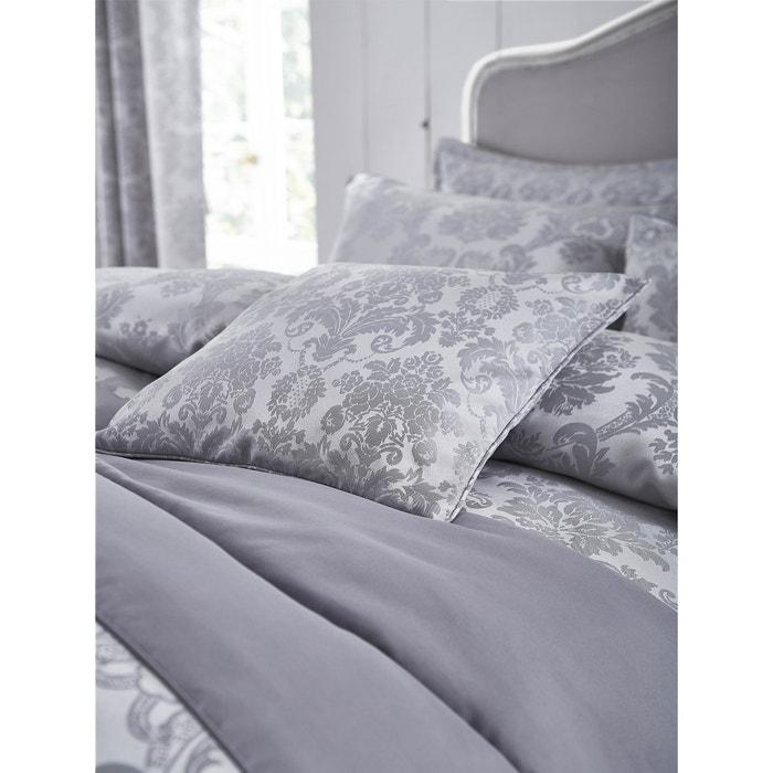 Damask Jacquard Duvet Set Silver, Damask Jacquard Bedding