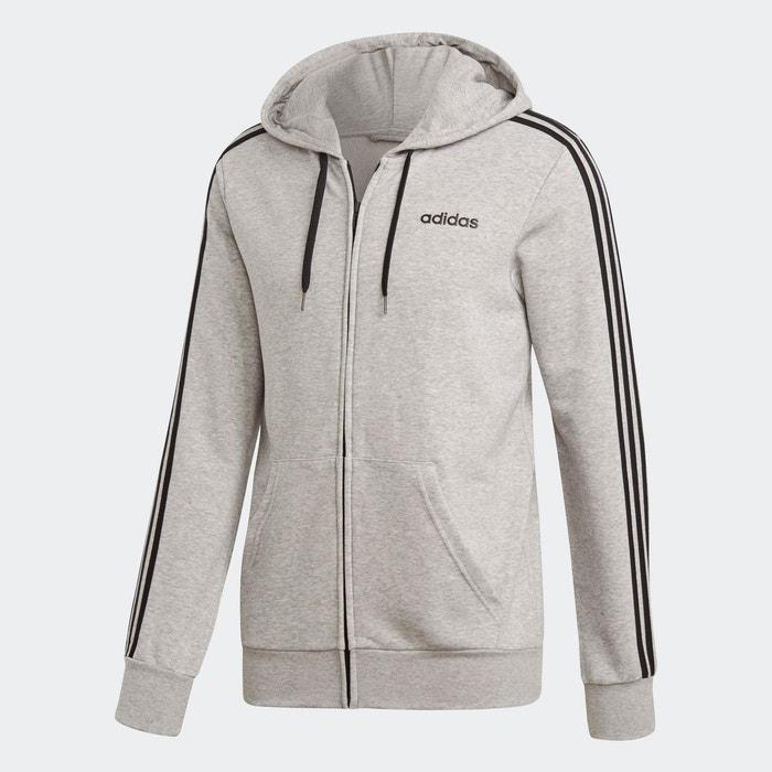 Veste de survêtement essentials 3 stripes gris Adidas