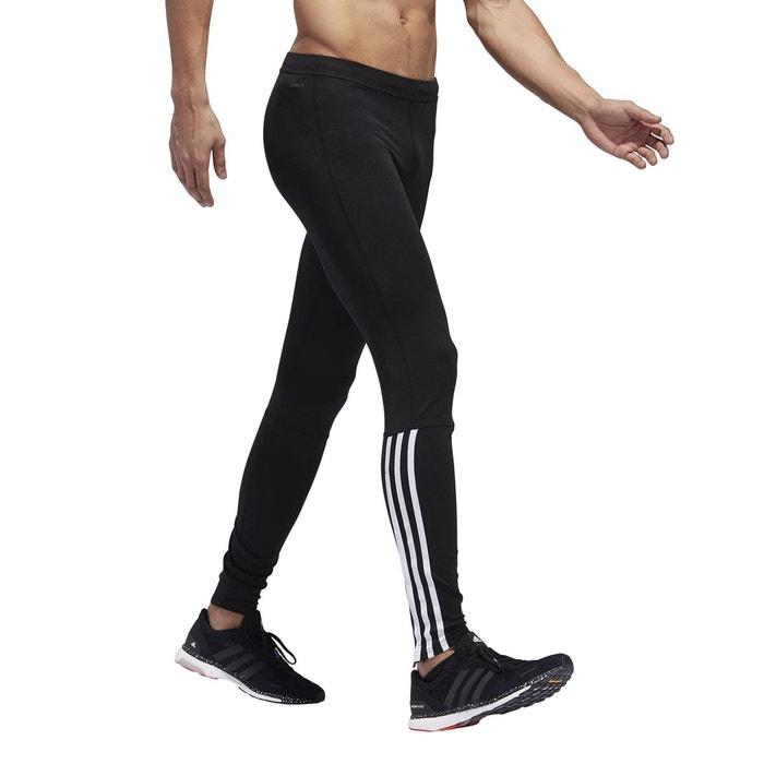 Collant de running noir Adidas Performance | La Redoute