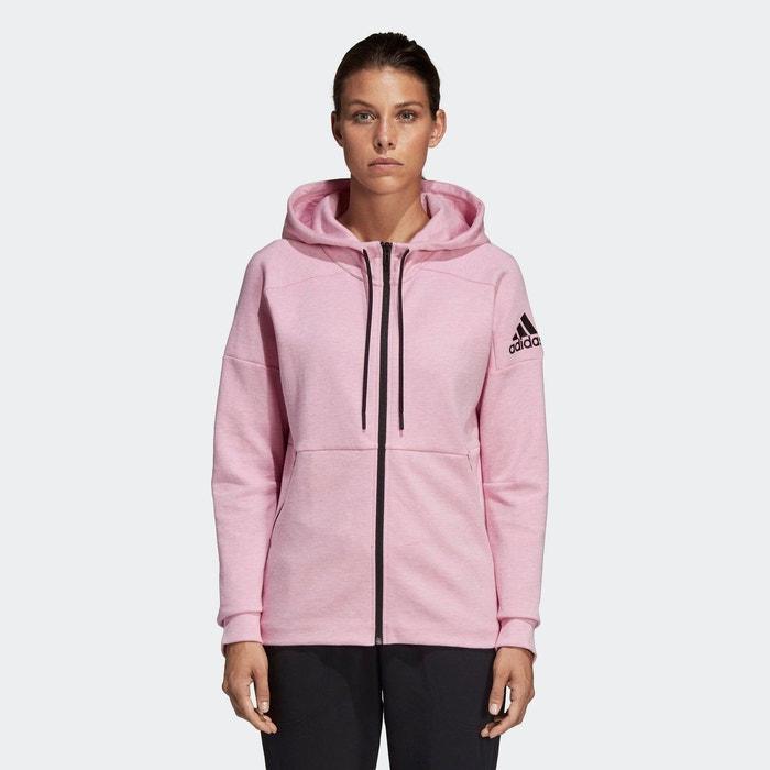Veste à capuche id stadium rose Adidas Performance | La Redoute