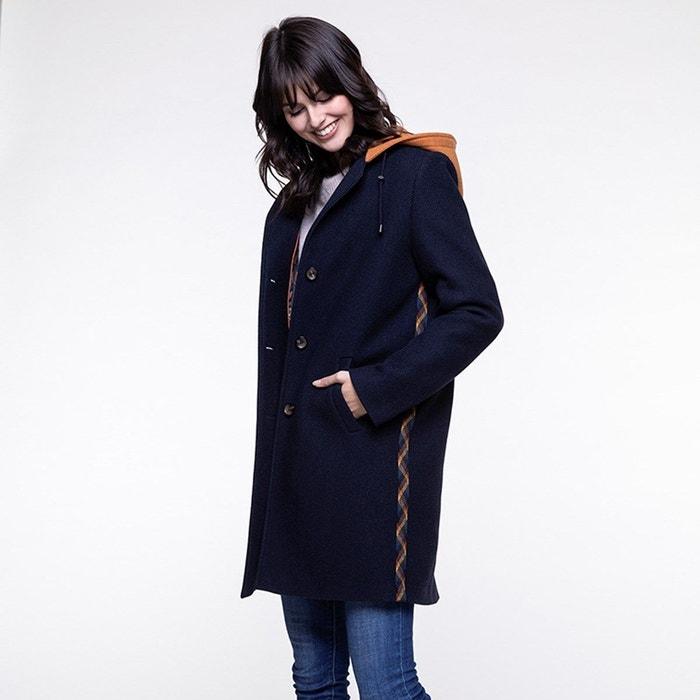 Manteau bleu marine zippé pour femme Trench & Coat