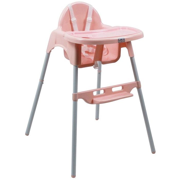 Chaise haute bébé réglable hauteur et tablette délice