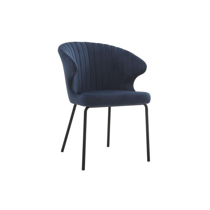 Chaise design en velours requiem Miliboo | La Redoute