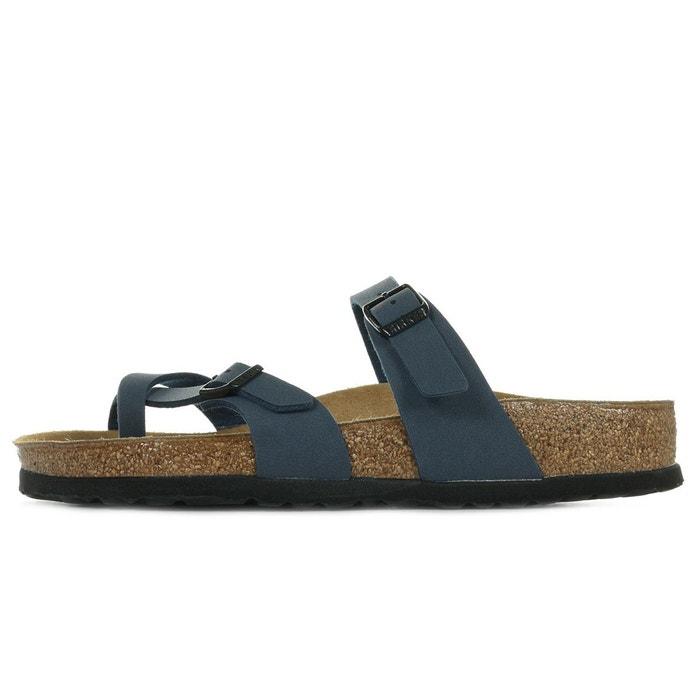 Birkenstock Chaussures à lacets bleu foncé cuir