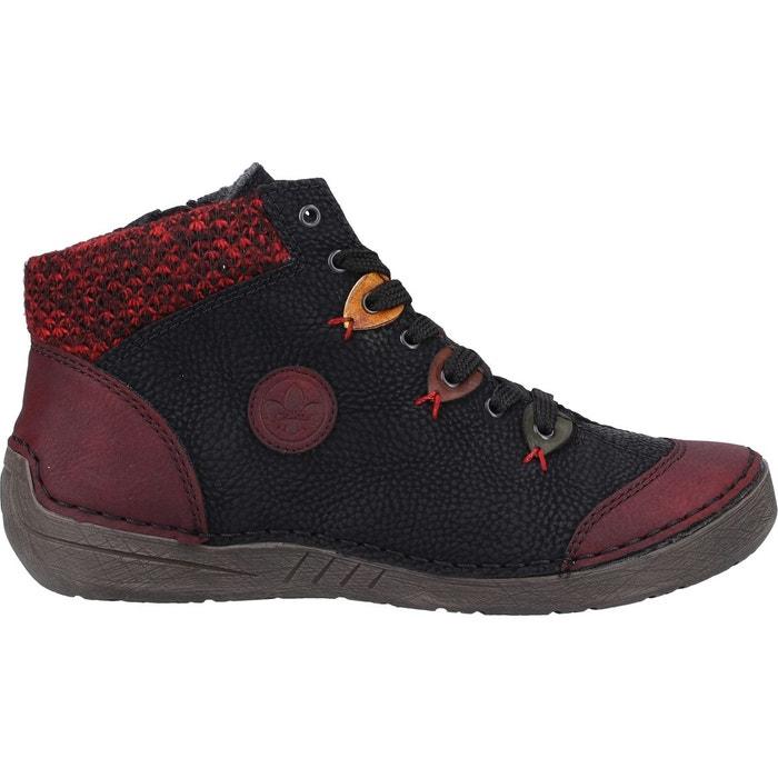 Bottines boots synthétique bordeaux Rieker | La Redoute
