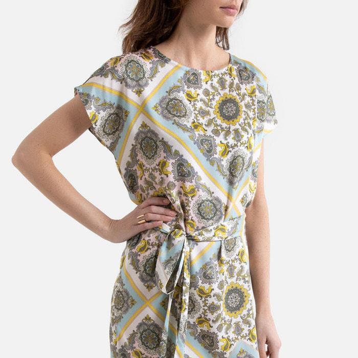 Robe longue sans manches imprimé foulard imprimé foulard La