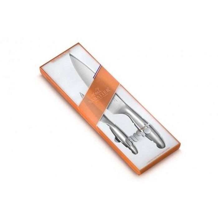Coffret Sabatier Fuso Nitro 2 Couteaux De Cuisine Inox Sabatier