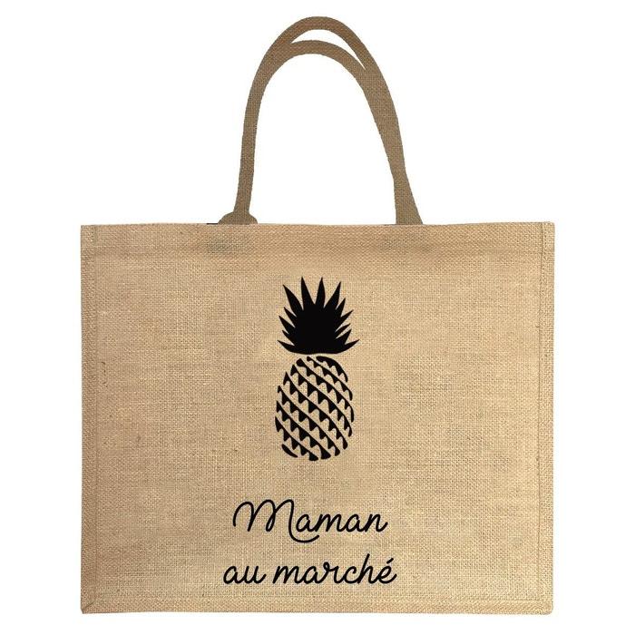 Sac cabas 100% jute maman au marche ananas Les Griottes | La Redoute