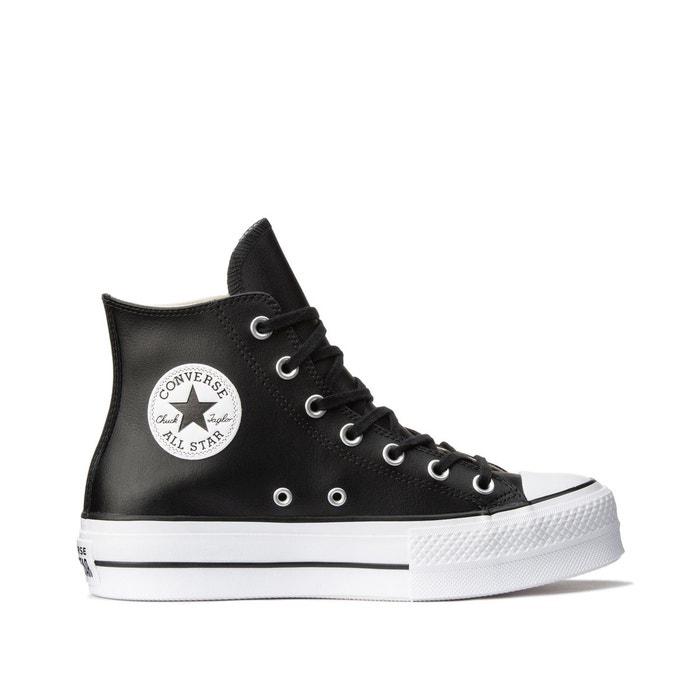 Chuck taylor all star lift cuir hi noir Converse | La Redoute