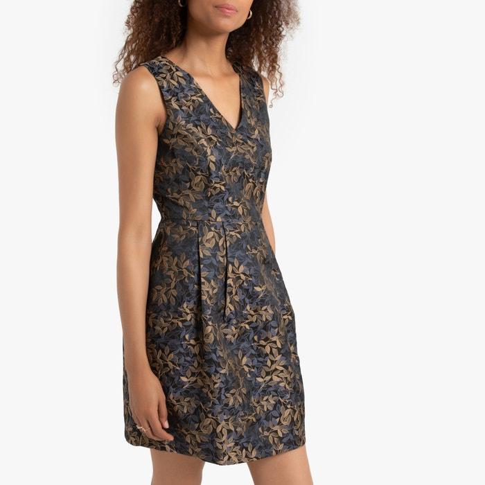 new product f4a85 64b43 Abito fantasia a fiori, corto oro nero Molly Bracken   La ...