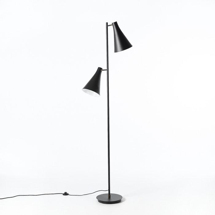 Jameson Double Shade Floor Lamp Black