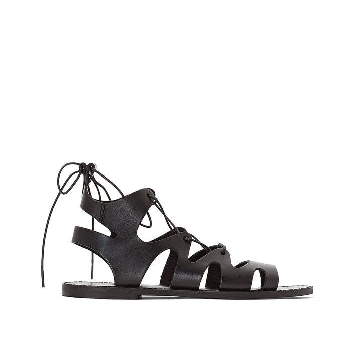 Sandales plates, cuir, alix noir Jonak | La Redoute