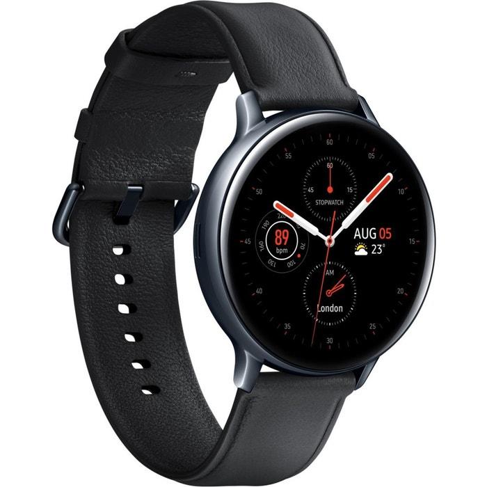 Montre connectée galaxy watch active 2 4g 44m acier cuir