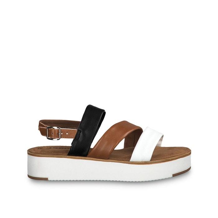 Sandales cuir solofra marron Tamaris | La Redoute