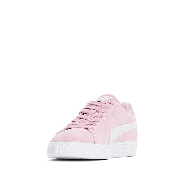 Sapatilhas em pele suede classic rosa Puma   La Redoute