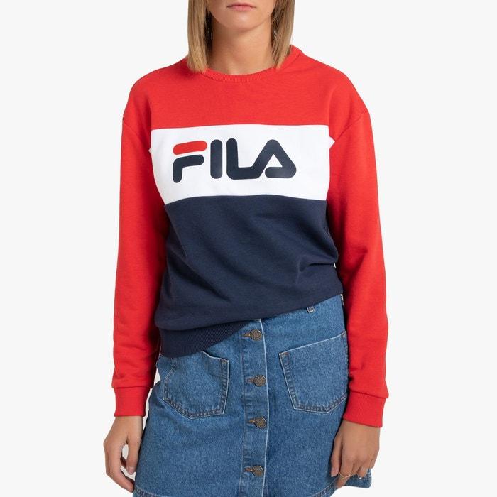 Sweat shirt tricolore leah crew sweat Fila | La Redoute