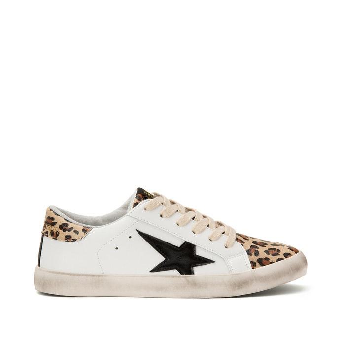 City leo gold trainers white/leopard Le