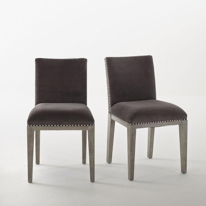 Lot de 2 chaises velours cloutées, eulali La Redoute