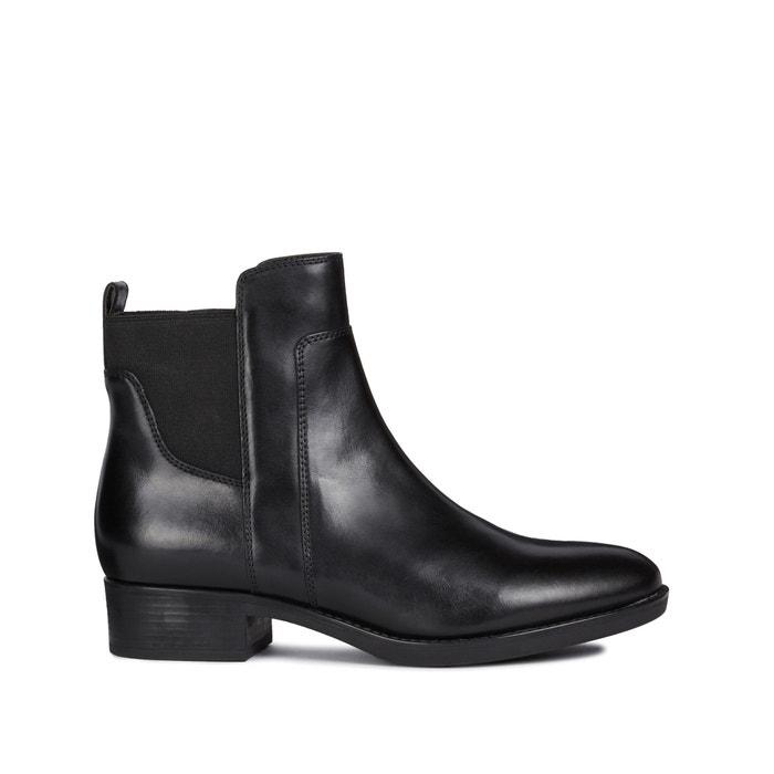 láser simpático con tiempo  Felicity leather ankle boots with block heel , black, Geox   La Redoute