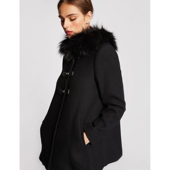 Manteau à capuche en laine mélangée camel femme   Morgan