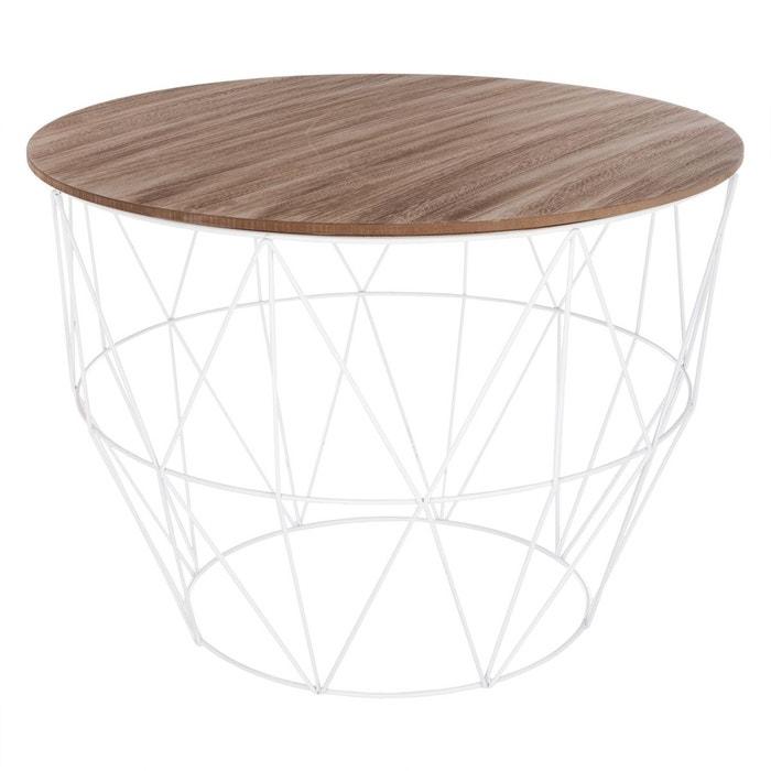 grande vente d40bf e7f25 Table à basse filaire Atomic - Métal - Diam. 56 cm