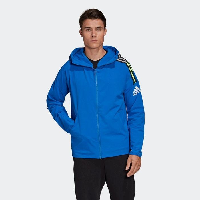 Veste à capuche adidas z.n.e. woven. bleu Adidas Performance
