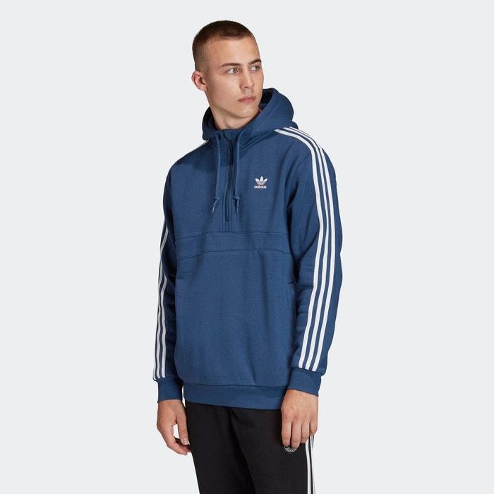 Sweat shirt à capuche 3 stripes bleu Adidas Originals   La