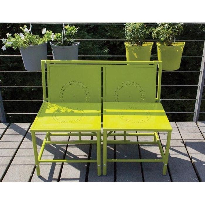 Banc de jardin convertible table + tabourets en métal ...