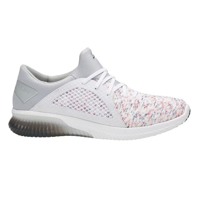 Chaussures gel kenun knit blanc gris clair Asics   La Redoute