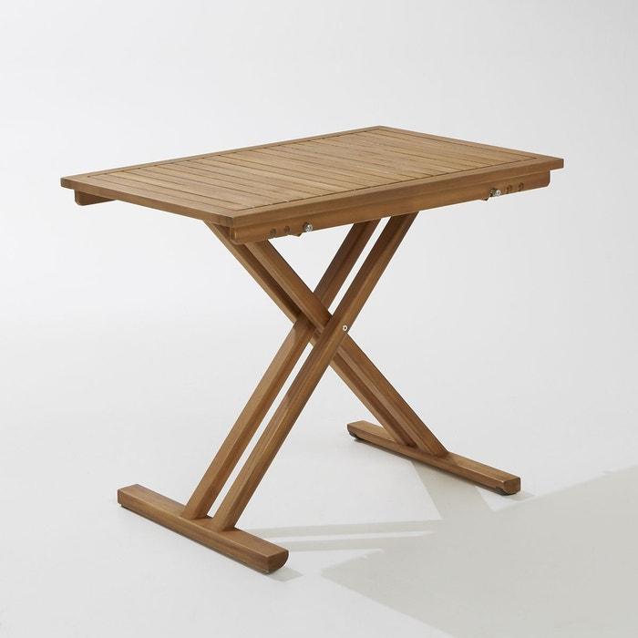 Table de jardin pliante en acacia et finition teck