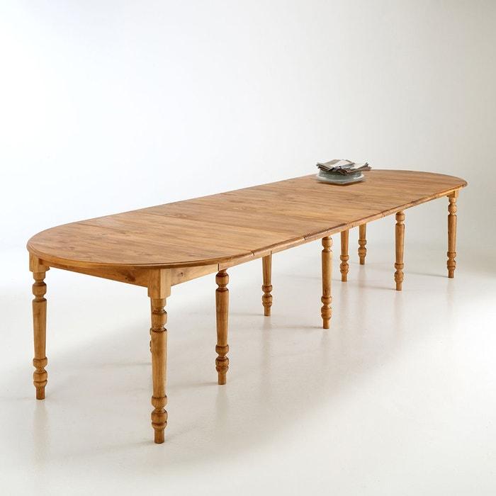 Table à Manger 4 à 16 Couverts Authentic Style Pin Ciré La