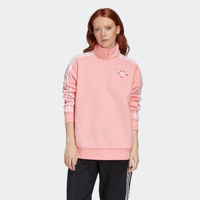 Sweat shirt half zip rose Adidas Originals | La Redoute