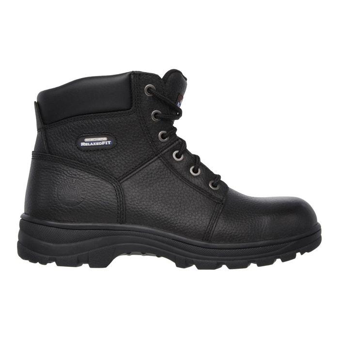 Bottes de sécurité à lacets noir Skechers | La Redoute