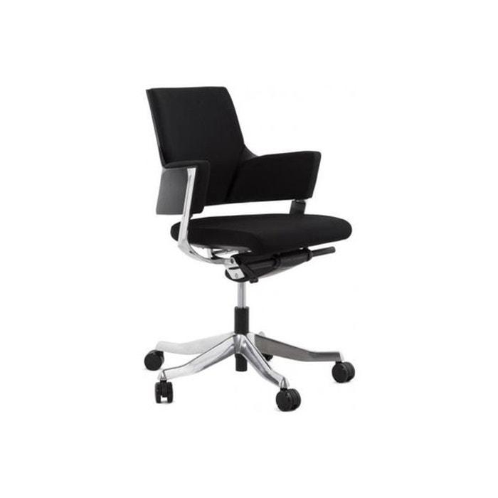 Chaise de bureau ergonomique réglable e charles noir