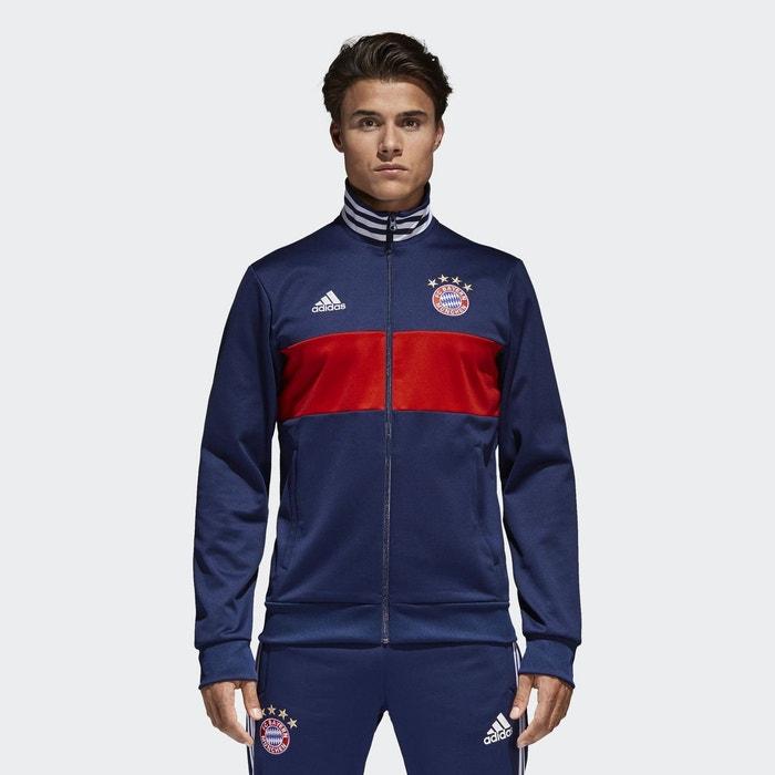 Veste de survêtement fc bayern 3 stripes bleu Adidas