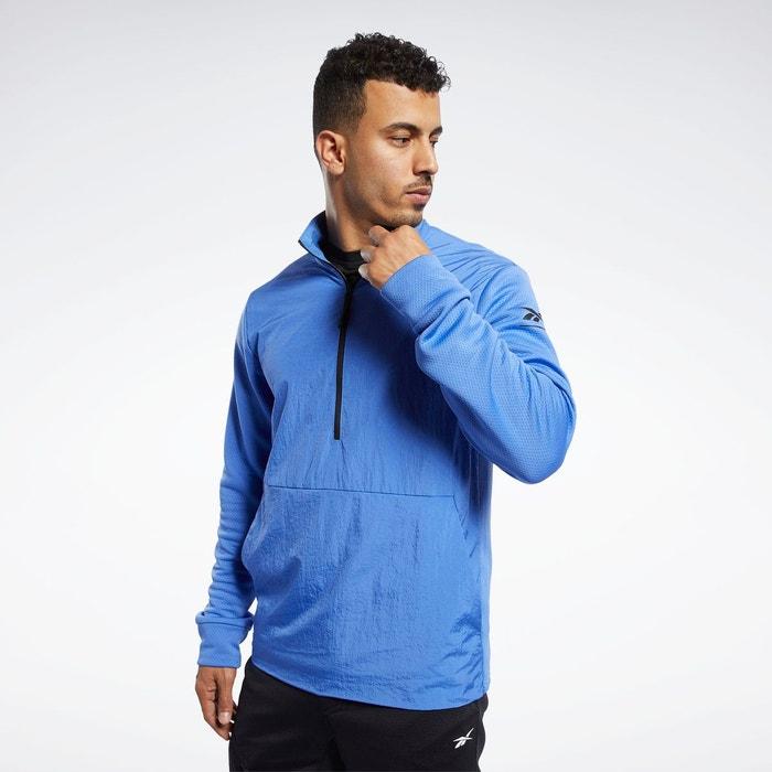 Pull 14 zip speedwick bleu Reebok Sport La Redoute  La Redoute