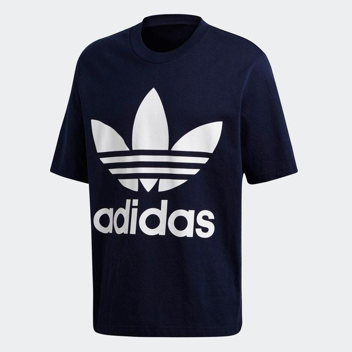 T shirt oversize trefoil bleu Adidas Originals   La Redoute
