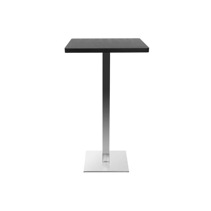 Table De Bar Design Carre Noire Pied Central Jory Noir