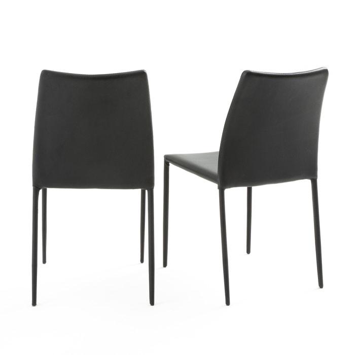 8 Zwarte Design Stoelen.Stoel Design Set Van 2 Newark Zwart La Redoute Interieurs La