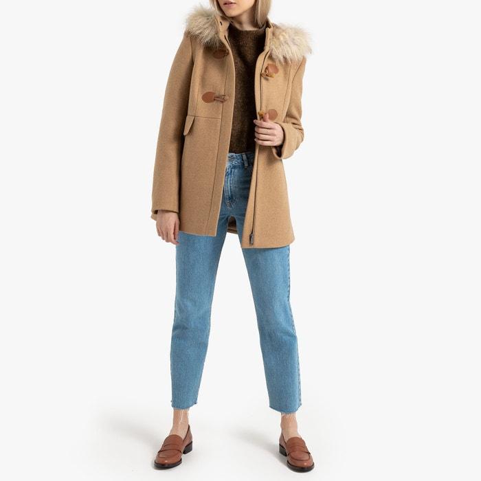 section spéciale aspect esthétique gros remise Hooded duffle coat with faux fur trim and pockets La Redoute ...
