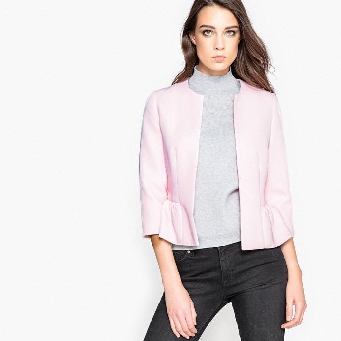 Casaco peplum rosa nude La Redoute Collections | La Redoute