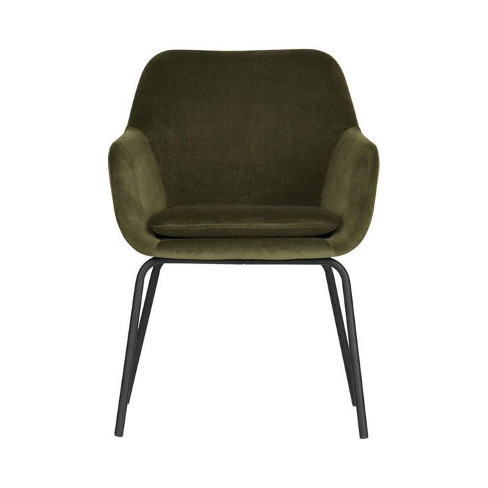 2 fauteuils de table en velours mood vert Woood | La Redoute