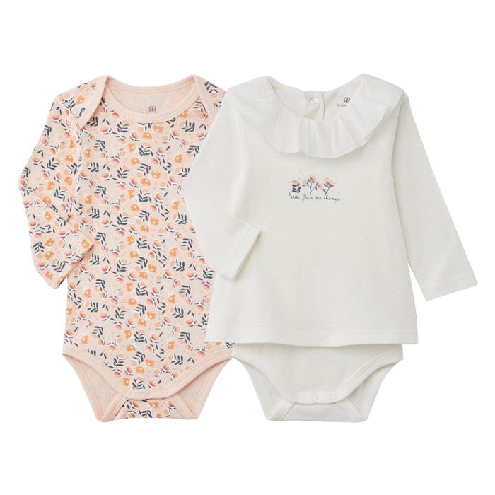 Pack of 3 Care Baby Girls Bodysuit