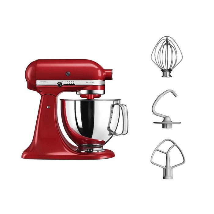 Robot pâtissier artisan 5ksm125eer + tranchoir rouge
