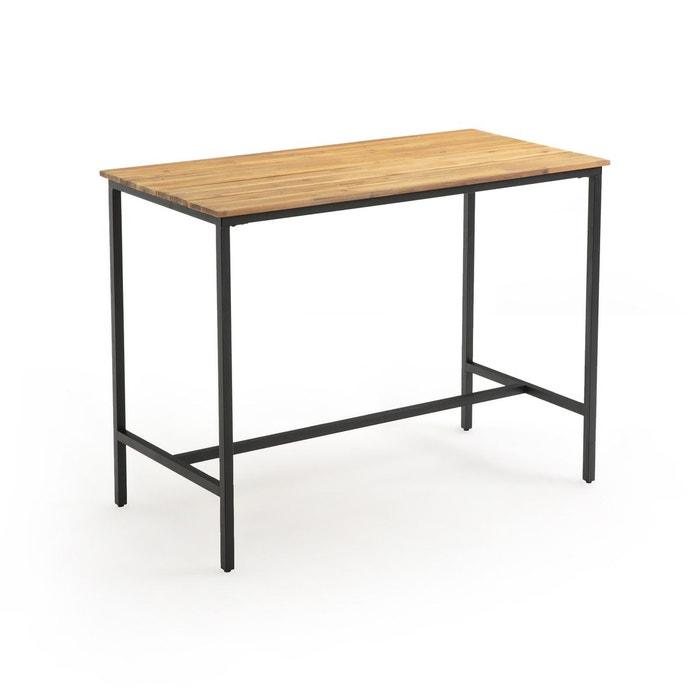 Table de jardin haute hiba noir/bois La Redoute Interieurs ...