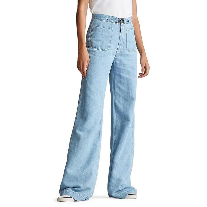 Onwijs Wijde jeans met hoge taille margery licht denim Polo Ralph Lauren KG-14